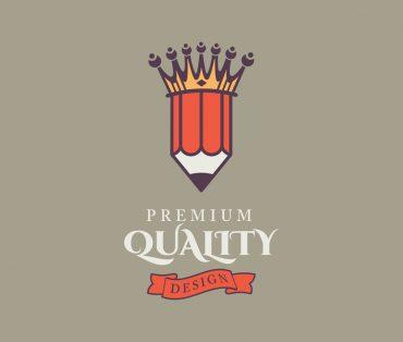 King pencil illustration vector
